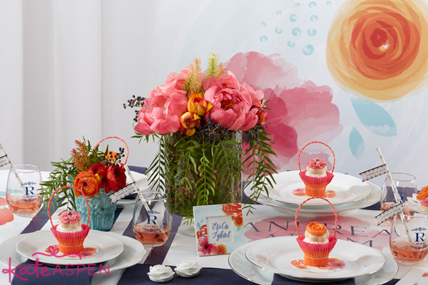 Bright floral wedding centerpieces - Kate Aspen
