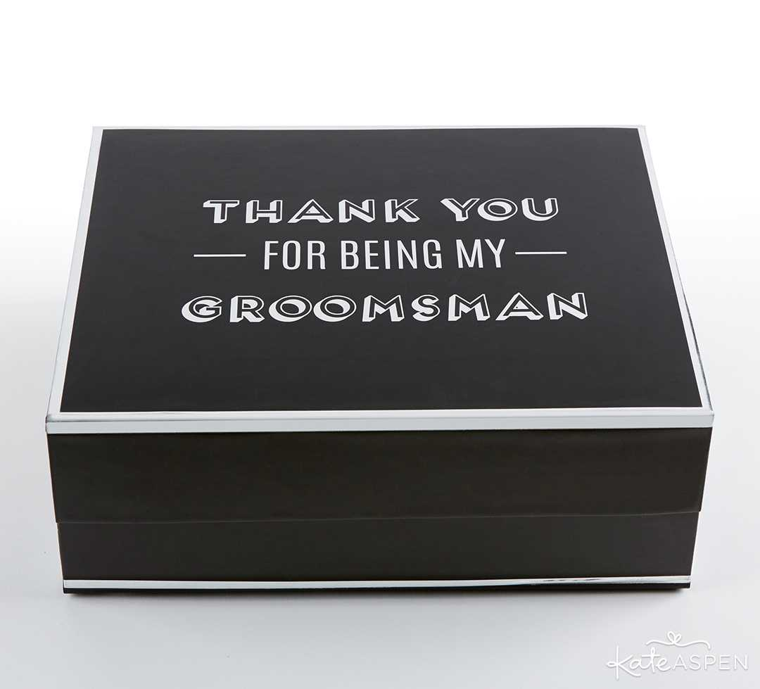 Groomsman Kit Gift Box | 8 Groomsmen Gift Ideas | Kate Aspen