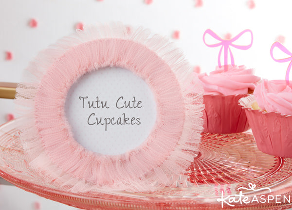 tulle tutu place card holder / frame from Kate Aspen
