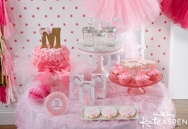 tutu cute birthday party favors and decor from Kate Aspen