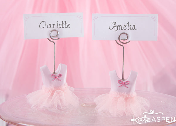 tutu place card holder from Kate Aspen