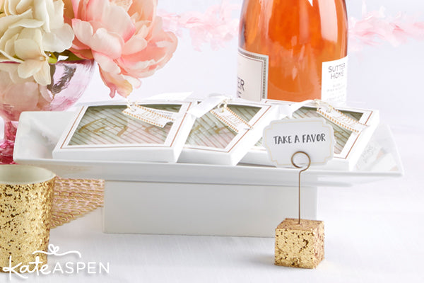 Glam Valentine's Day Party Favors from @KateAspen | KateAspen.com