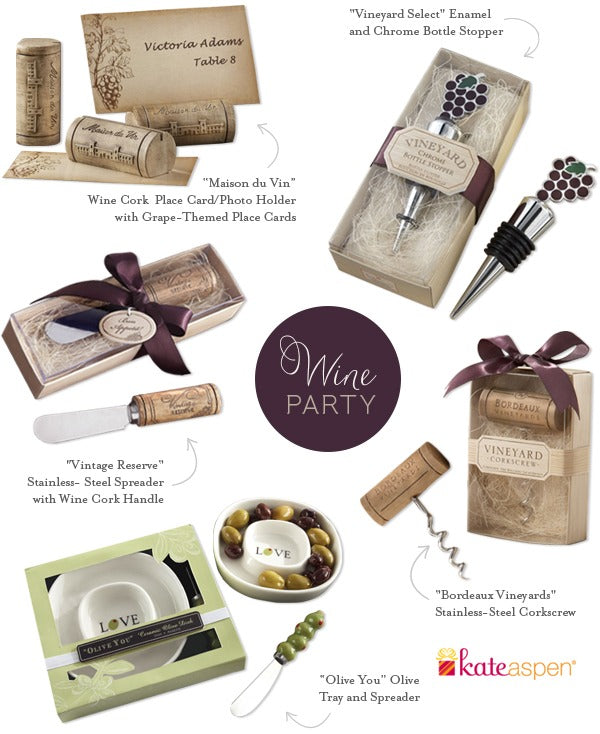 Kate Aspen Wine Party Favors