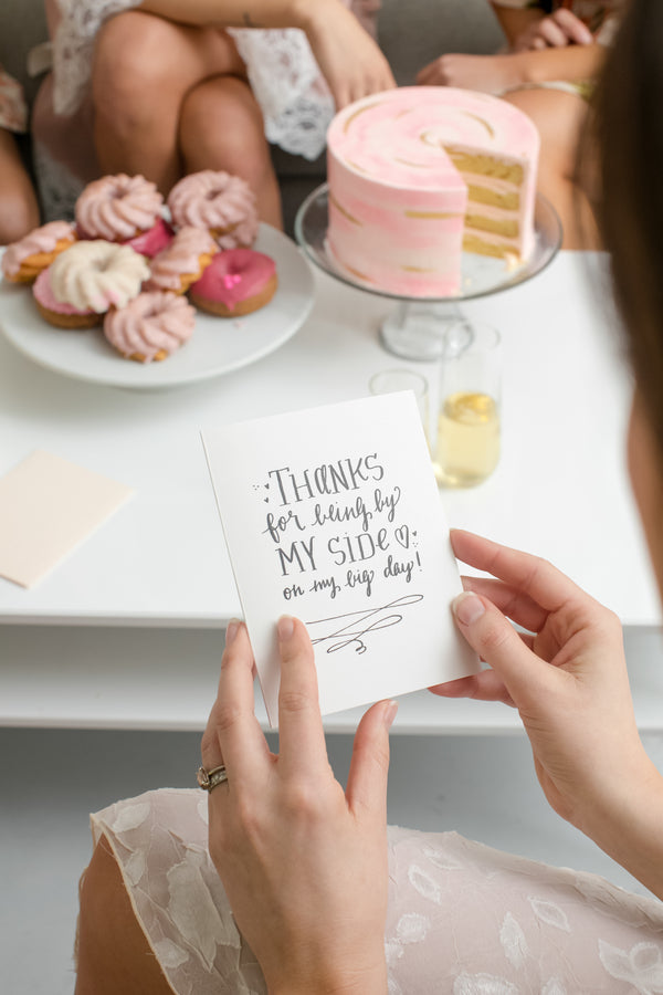 Bride Reading Card | Fun Tips For Getting Ready On Your Wedding Day | Kate Aspen