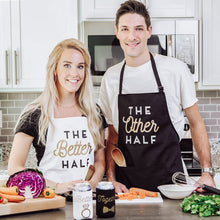 Load image into Gallery viewer, Other Half & Better Half Couples Apron Gift Set