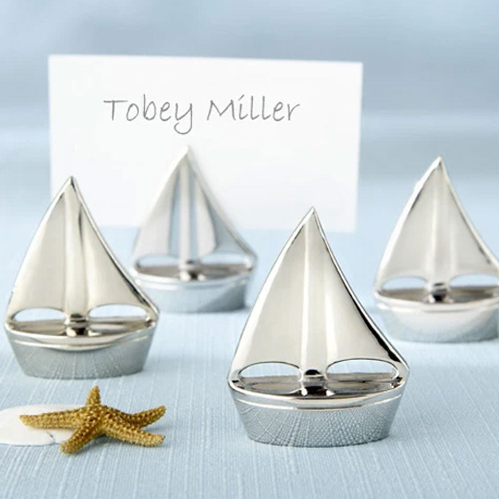 Shining Sails Silver Place Card Holder (Set of 4)