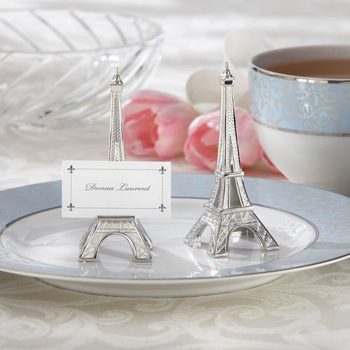 Evening in Paris Eiffel Tower Silver-Finish Place Card/Holder
