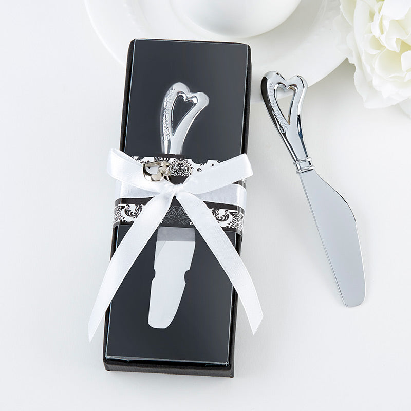 Spread the Love Chrome Spreader with Heart Shaped Handle