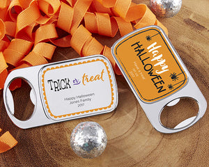 Personalized Silver Bottle Opener - Halloween