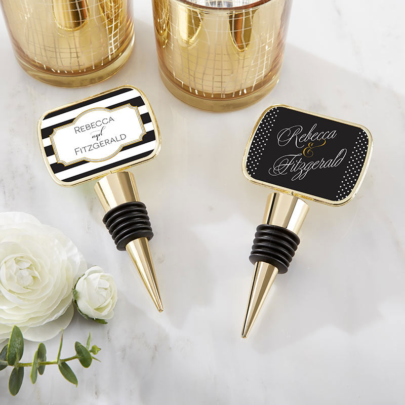 Personalized Gold Bottle Stopper - Classic