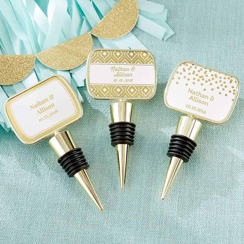 Personalized Gold Bottle Stopper - Gold Foil