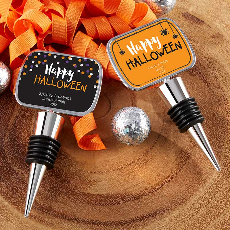Personalized Silver Bottle Stopper - Halloween