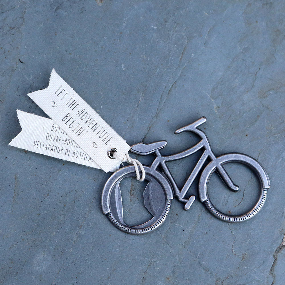 Load image into Gallery viewer, Let's Go On an Adventure Bicycle Bottle Opener