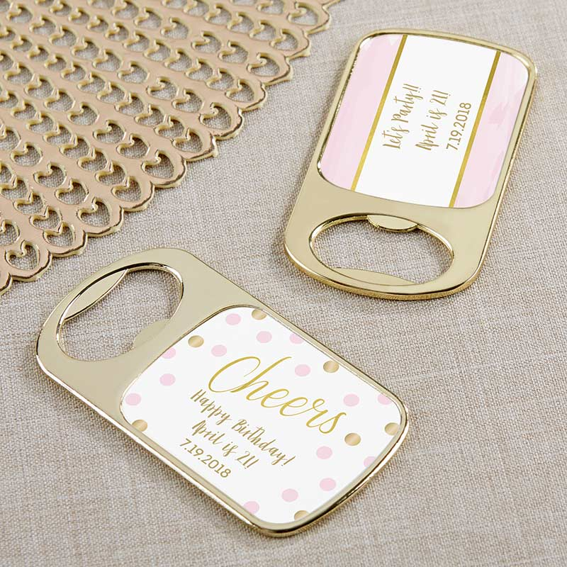 Personalized Gold Bottle Opener - Birthday For Her