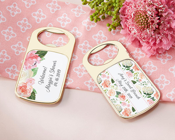 Personalized Gold Bottle Opener - Bridal Brunch
