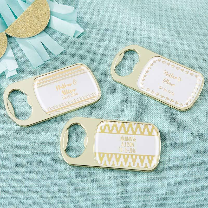 Personalized Gold Bottle Opener - Gold Foil