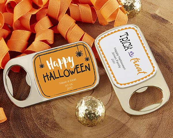 Personalized Gold Bottle Opener - Halloween