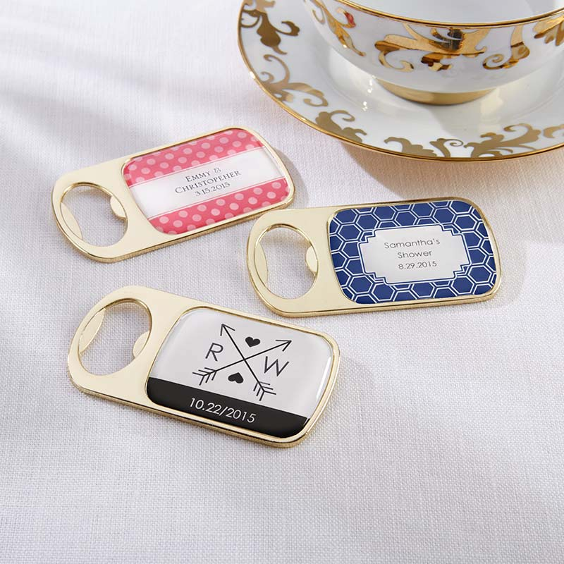 Personalized Gold Bottle Opener - Wedding