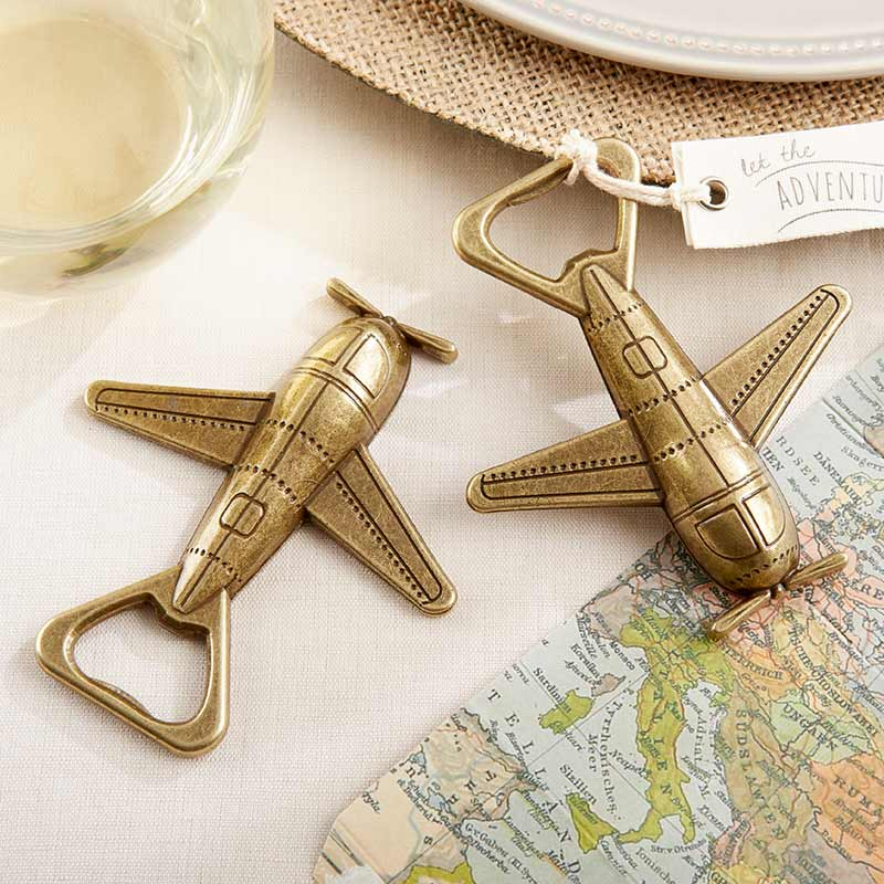 Load image into Gallery viewer, Let the Adventure Begin Airplane Bottle Opener