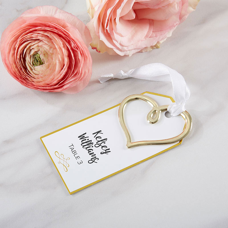 Gold Heart Escort Card (Set of 12)