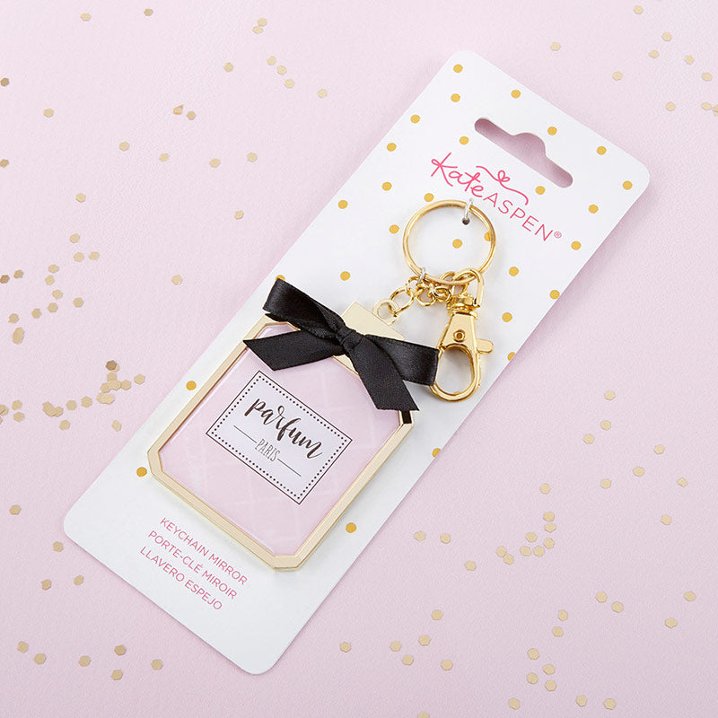 French Perfume Keychain with Mirror