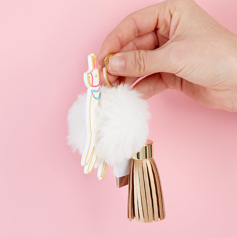 Load image into Gallery viewer, Llama USB Keychain
