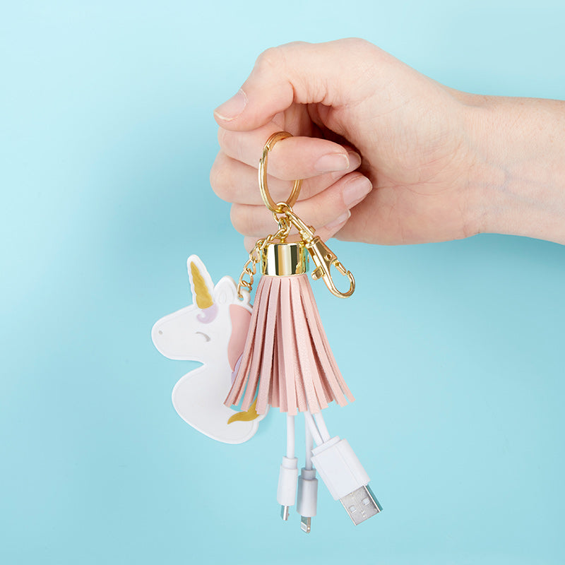 Load image into Gallery viewer, Unicorn USB Keychain