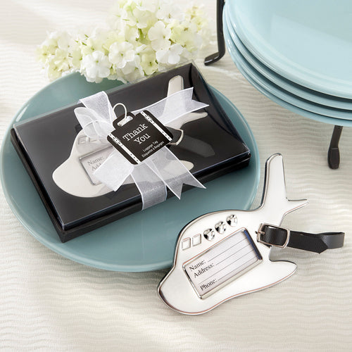 Airplane Luggage Tag in Gift Box with suitcase tag