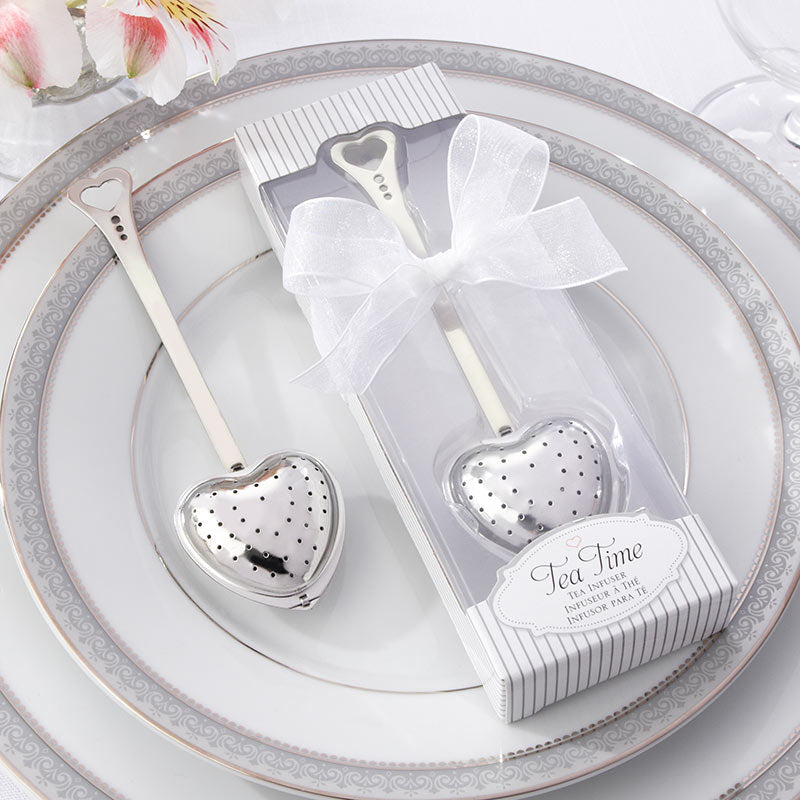 Tea Time Heart Tea Infuser in Elegant White Gift Box