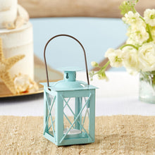 Load image into Gallery viewer, Luminous Blue Mini-Lantern Tea Light Holder