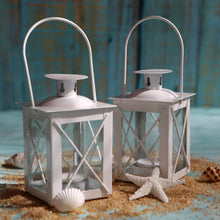 Load image into Gallery viewer, Luminous White Mini-Lantern Tea Light Holder