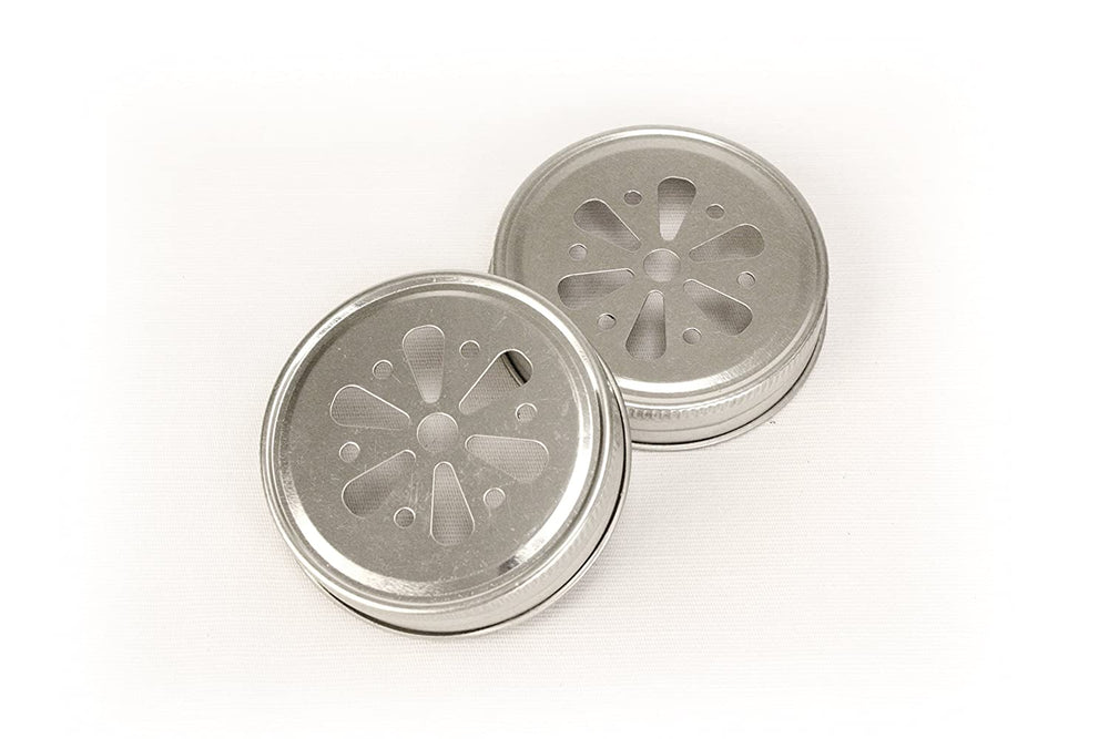 Load image into Gallery viewer, Flower Stamped Mason Jar Lids (Set of 12)
