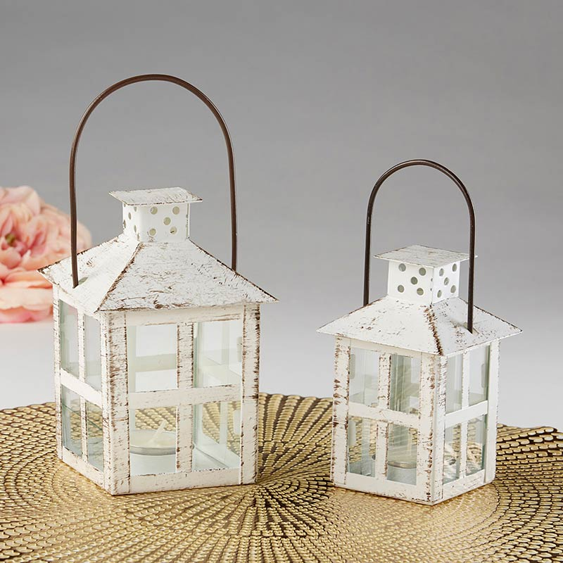 Load image into Gallery viewer, Vintage White Distressed Lantern - Small
