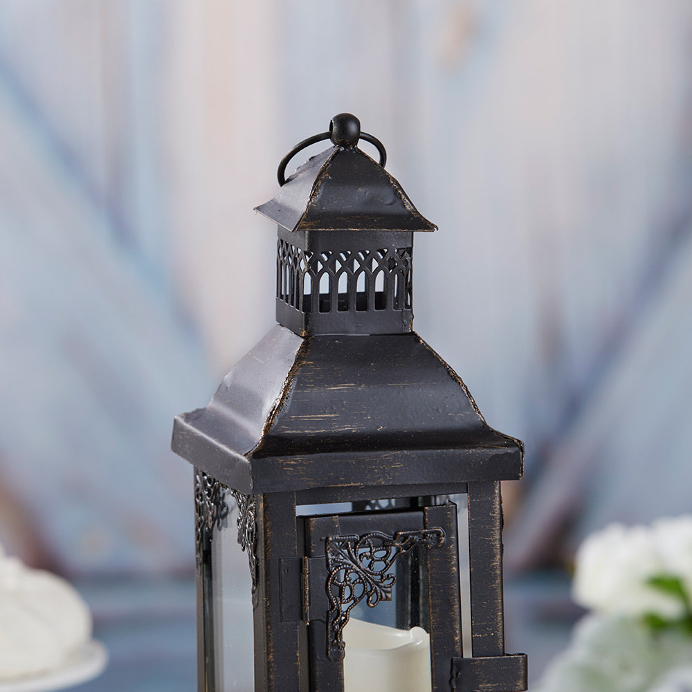 Load image into Gallery viewer, Antique Black Ornate Lantern - Small
