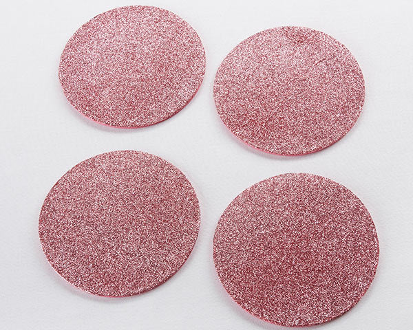 Load image into Gallery viewer, Pink Glitter Coaster (Set of 4)