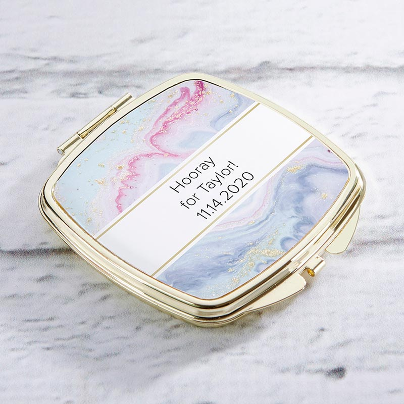 Personalized Gold Compact - Elements