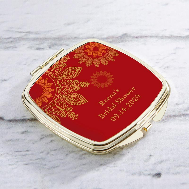 Personalized Gold Compact - Indian Jewel