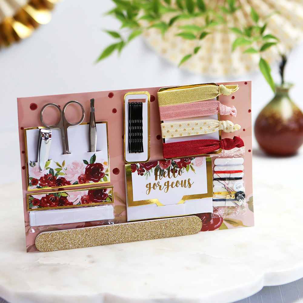 Burgundy Blush Floral Wedding Survival Kit