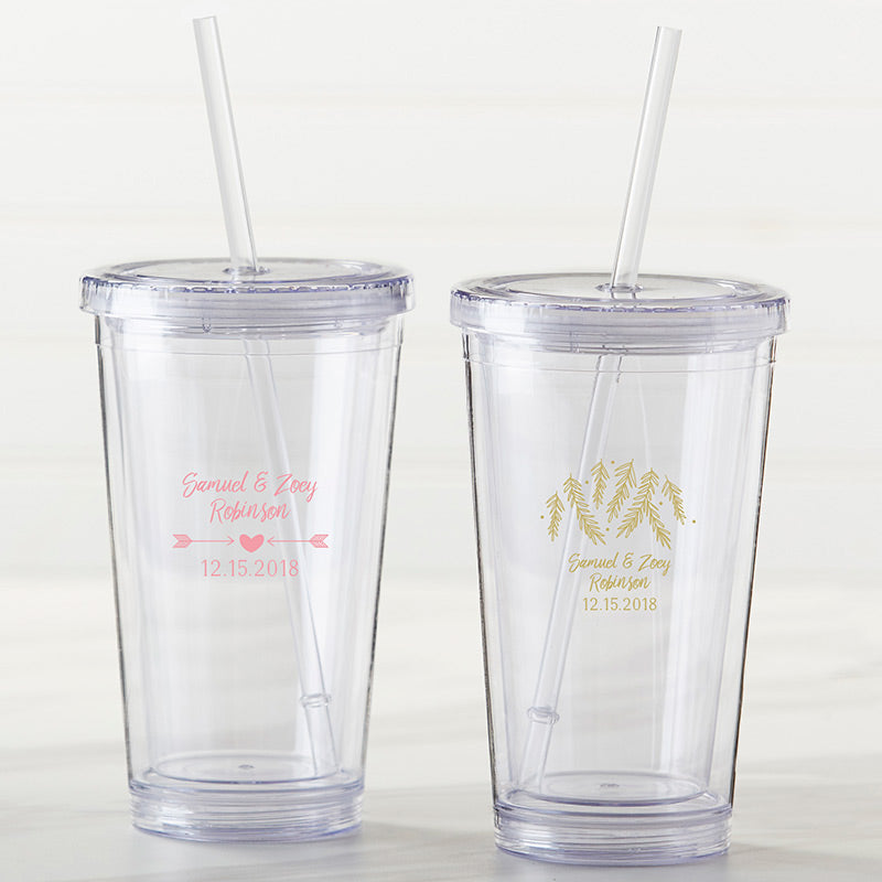 Personalized Printed Acrylic Tumbler - Winter
