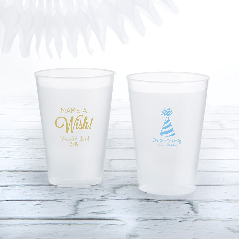 Personalized 10 oz. Frosted Flex Cup - Birthday