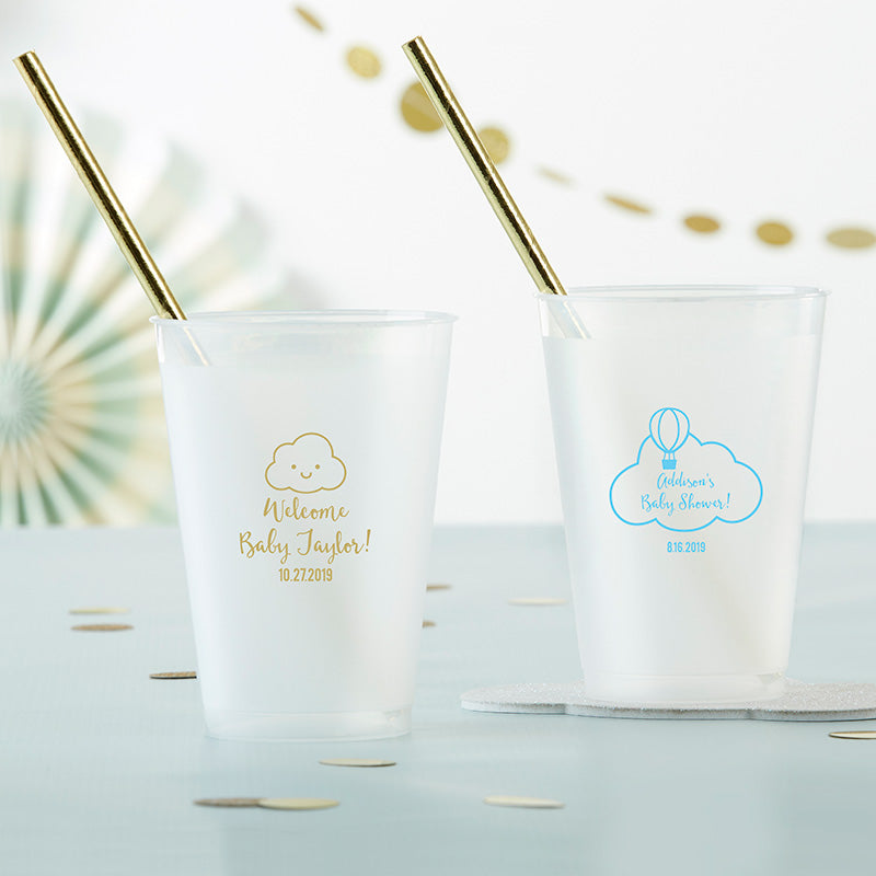 Personalized 10 oz. Frosted Flex Cup - Gender Neutral Baby Shower