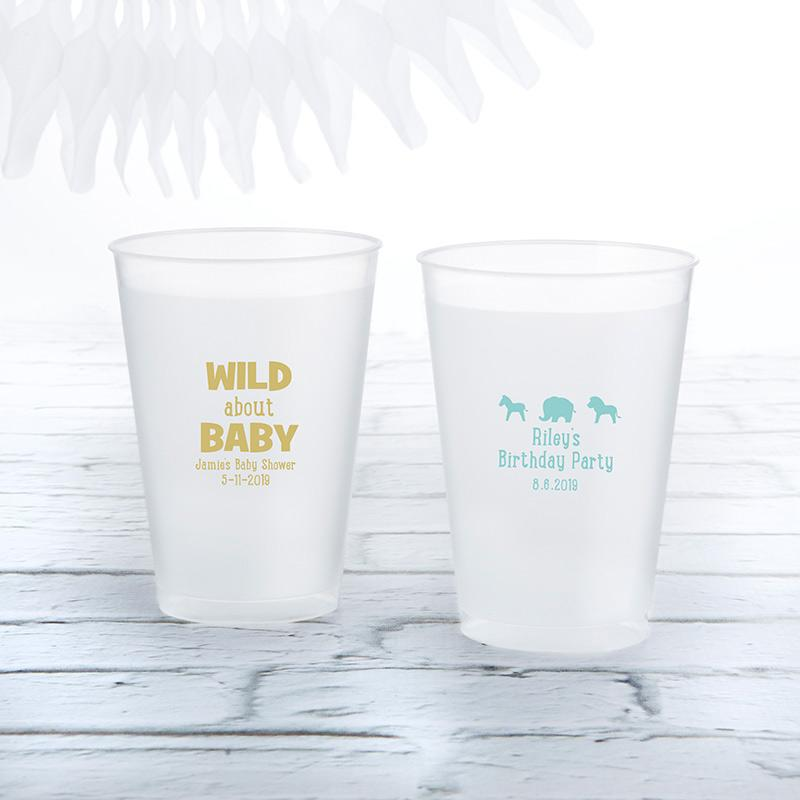 Personalized 10 oz. Frosted Flex Cup - Safari