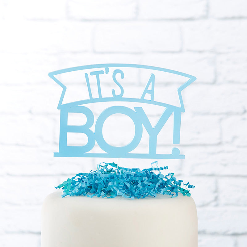 It's a Boy Acrylic Cake Topper