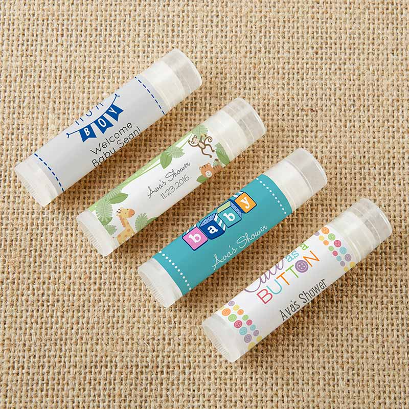 Personalized Lip Balm - Baby Shower (Set of 12)