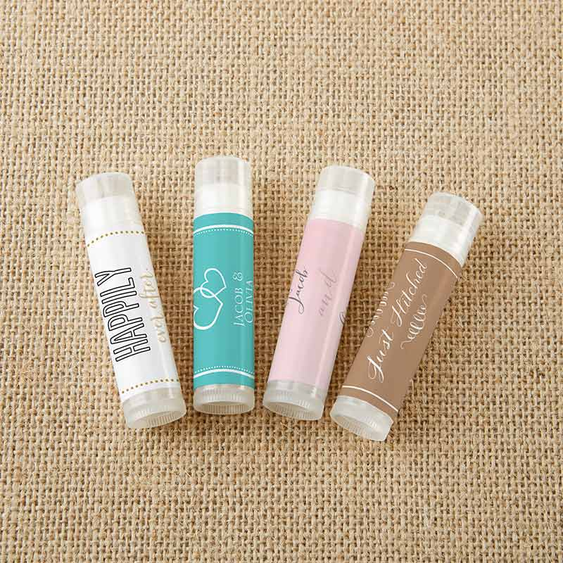 Personalized Lip Balm - Wedding (Set of 12)