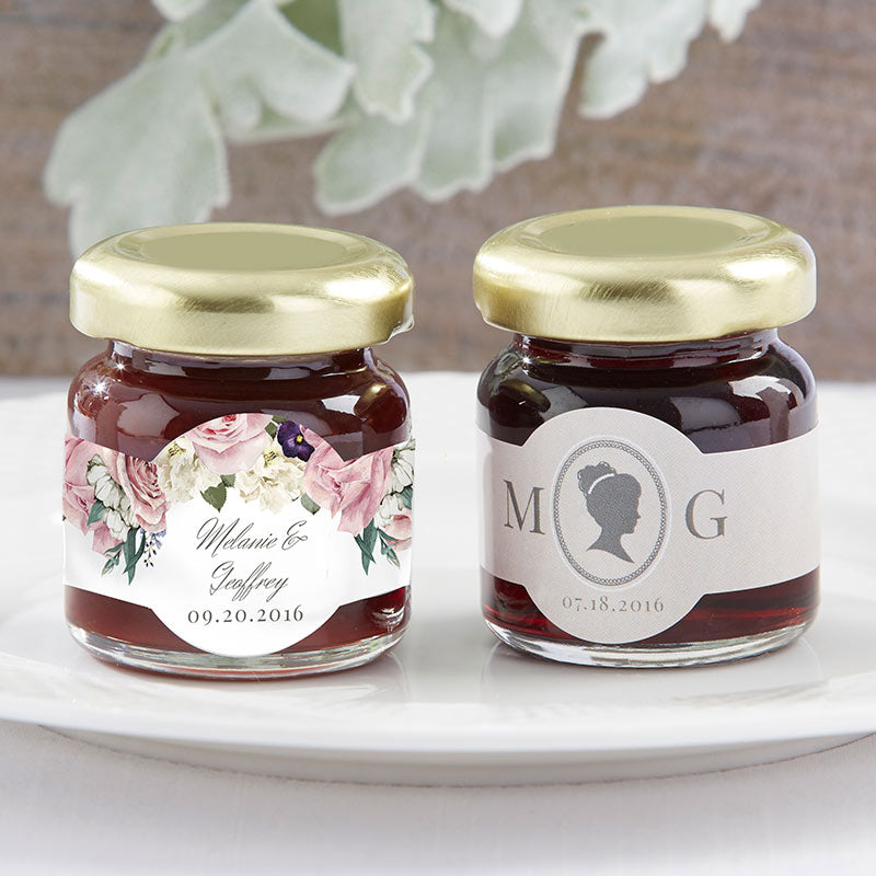 Personalized Strawberry Jam - English Garden (Set of 12)