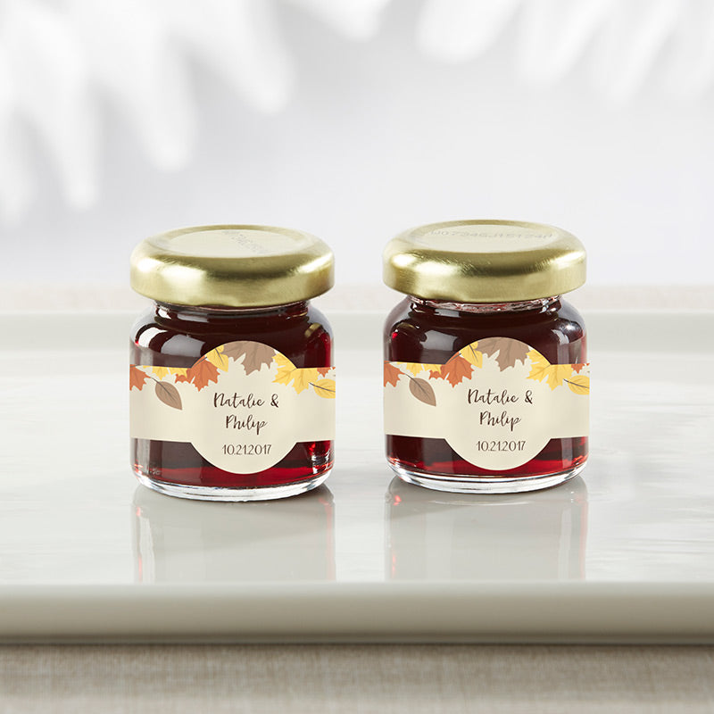 Personalized Strawberry Jam - Fall Leaves (Set of 12)