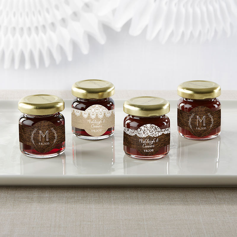 Personalized Strawberry Jam - Rustic Charm Wedding (Set of 12)