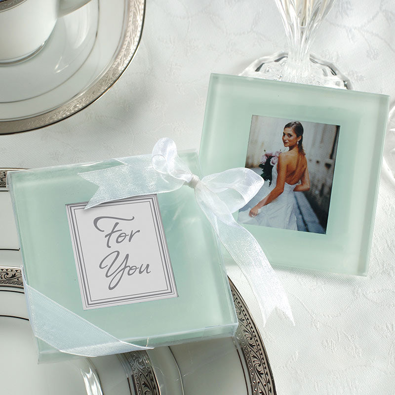 Forever Photo Frosted Glass Coaster (Set of 2)