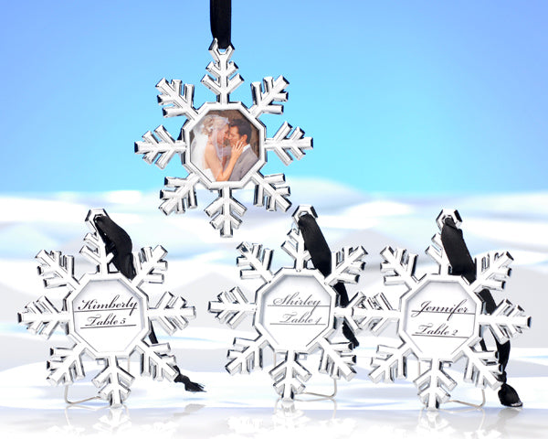 Snowflake Place Card Holder/Ornament (Set of 4)